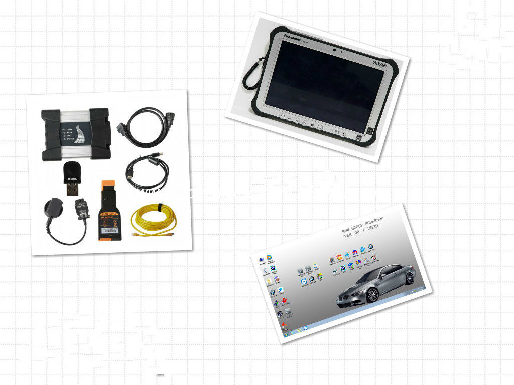 BMW ICOM NEXT BMW Diagnostic Tools with 2020/8 SSD Plus Panasonic FZ G1 Tablet Ready to Work